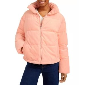 NWT Collection B Cropped Corduroy Puffer Coat Juni